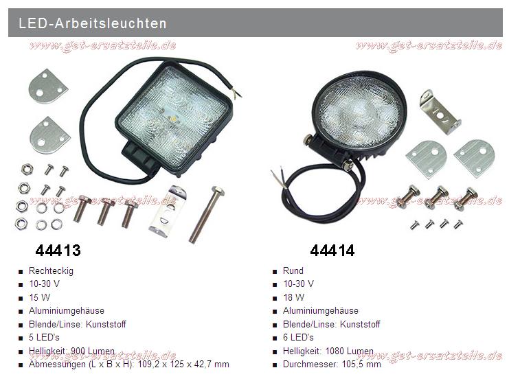 LED-Arbeitsleuchte (Arbeitsscheinwerfer) für Gabelstapler, Traktoren und Baumaschinen von GET Gabelstapler – Ersatzteile & Transportgeräte 99438 Bad Berka Thüringen