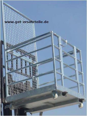 Arbeitsbühne, Arbeitskorb, verzinkt, zerlegbar, für Gabelstapler & Baumaschinen