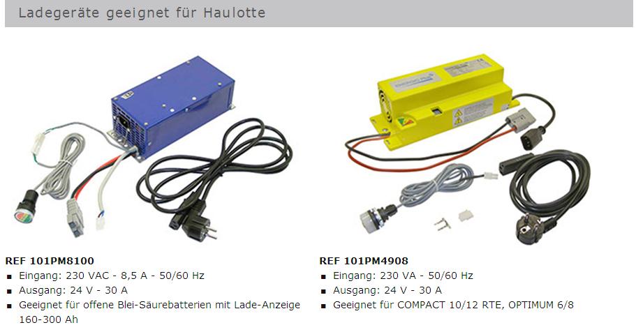 Ladegeräte für Haulotte Arbeitsbühnen von GET Gabelstapler – Ersatzteile & Transportgeräte 99438 Bad Berka Thüringen