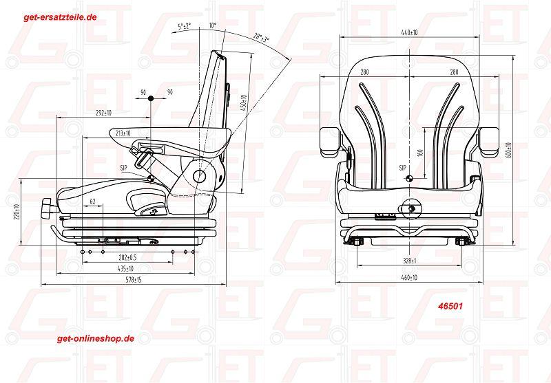 Fahrersitz Standard Ausführung UnitedSeats MGV35 PVC
