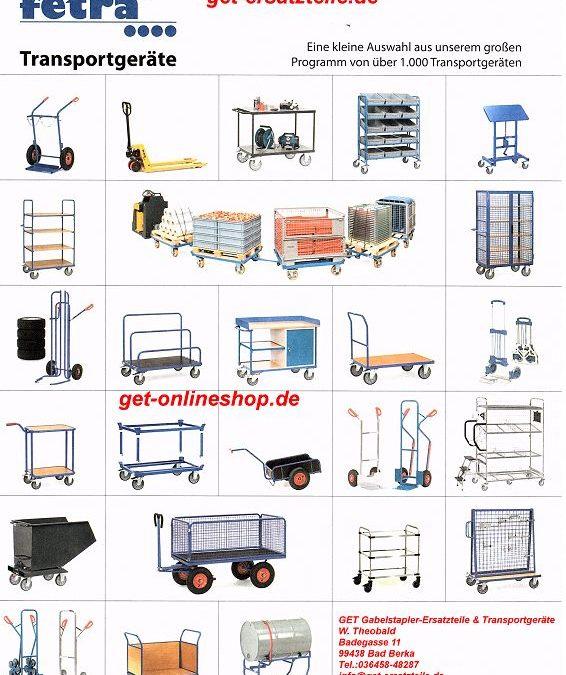Fetra (Fechtel) Transportgeräte, kleine Auswahl aus unserem großen Programm (was ist NEU?)